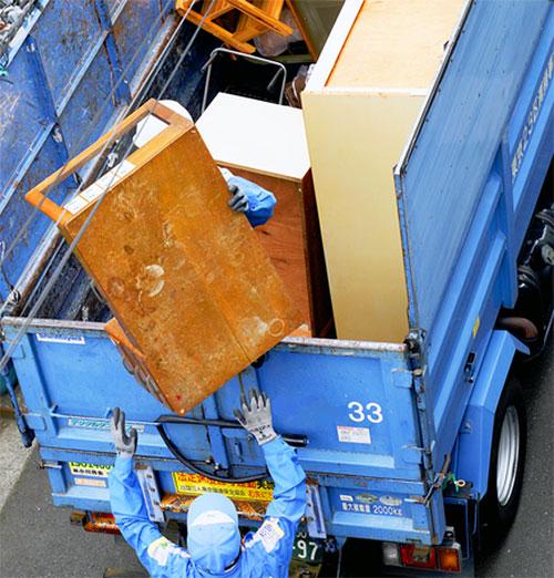 行政による粗大ゴミ回収